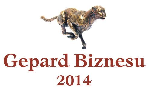 Logo promocyjne Gepard Biznesu 2014